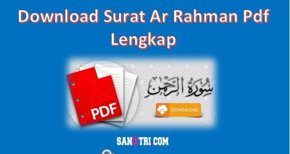 Surat Ar Rahman Pdf